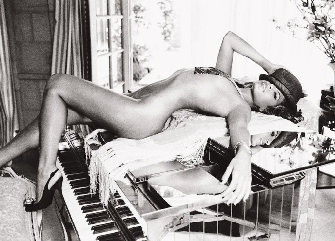 Naked Woman on the Piano