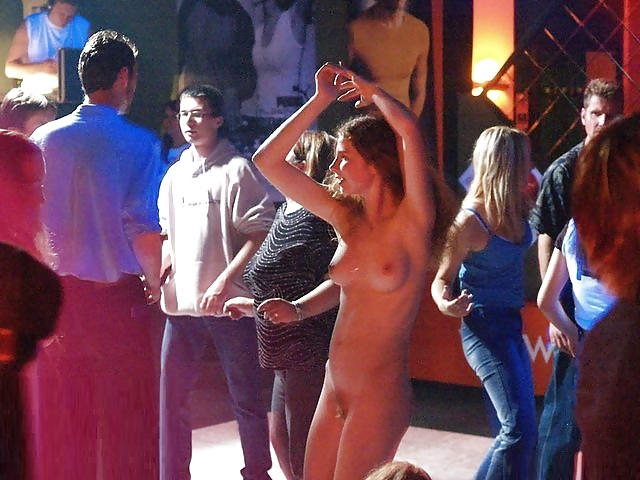 Naked girl dancing
