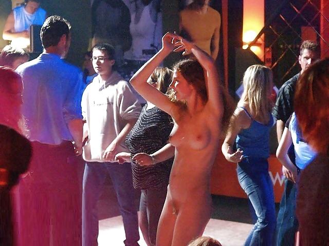 Naked girl dancing